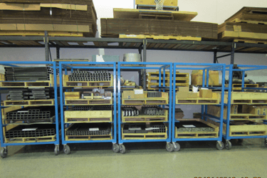 Components Staged for Manufacturing